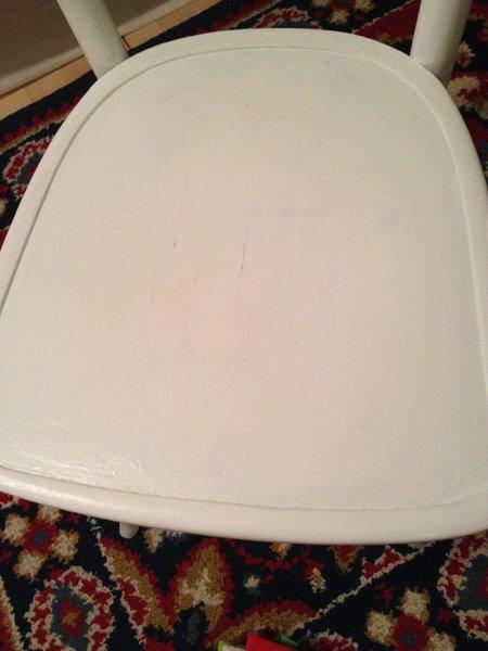 weißer Sitzfläche