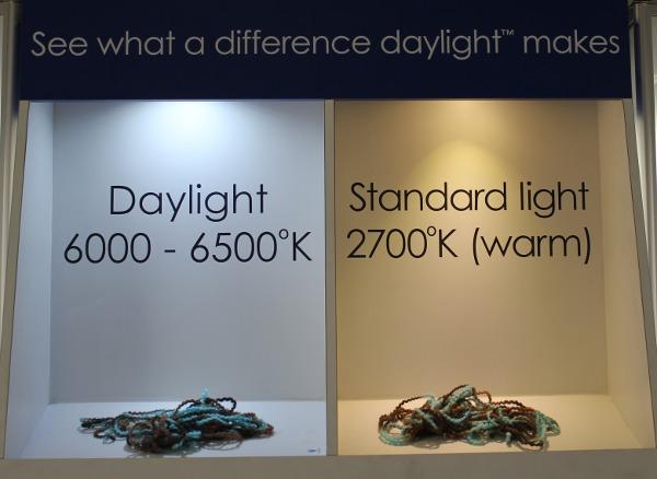 Tageslicht und Kunstlicht