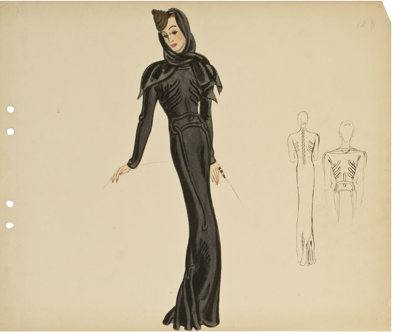 Kleid Squelette von Elsa Schiaparelli, 1937, Bild Les Arts Décoratifs