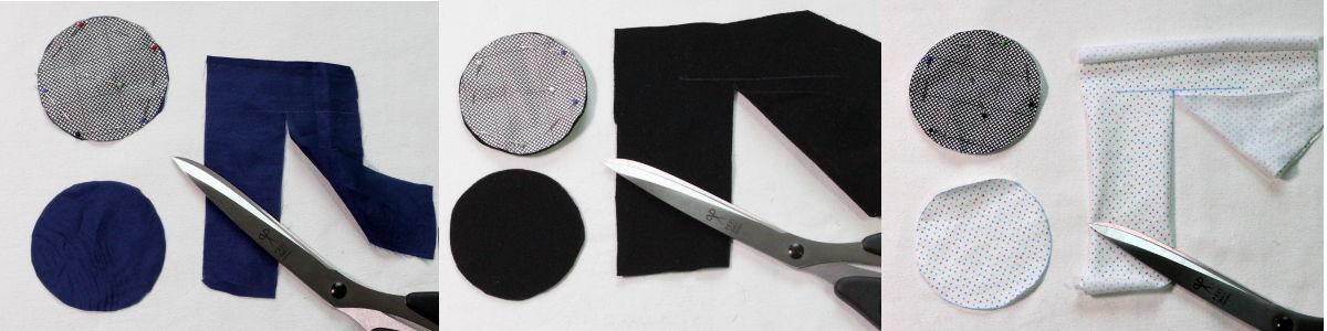 Test mit drei Materialien