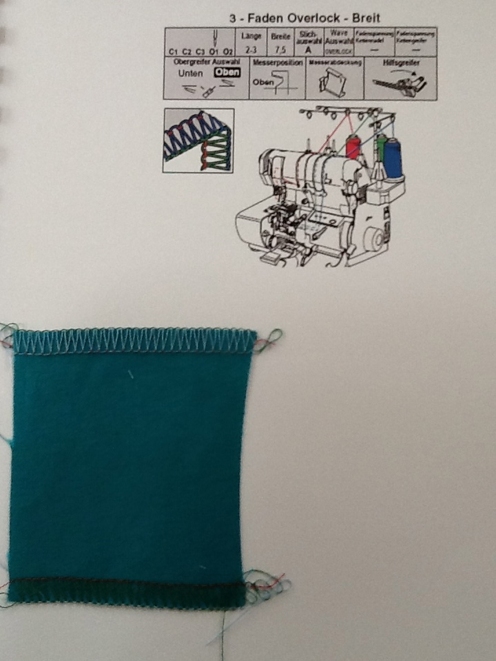 3-Faden Overlock breit
