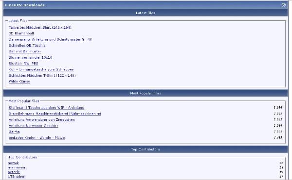 Screenshot der Startseite