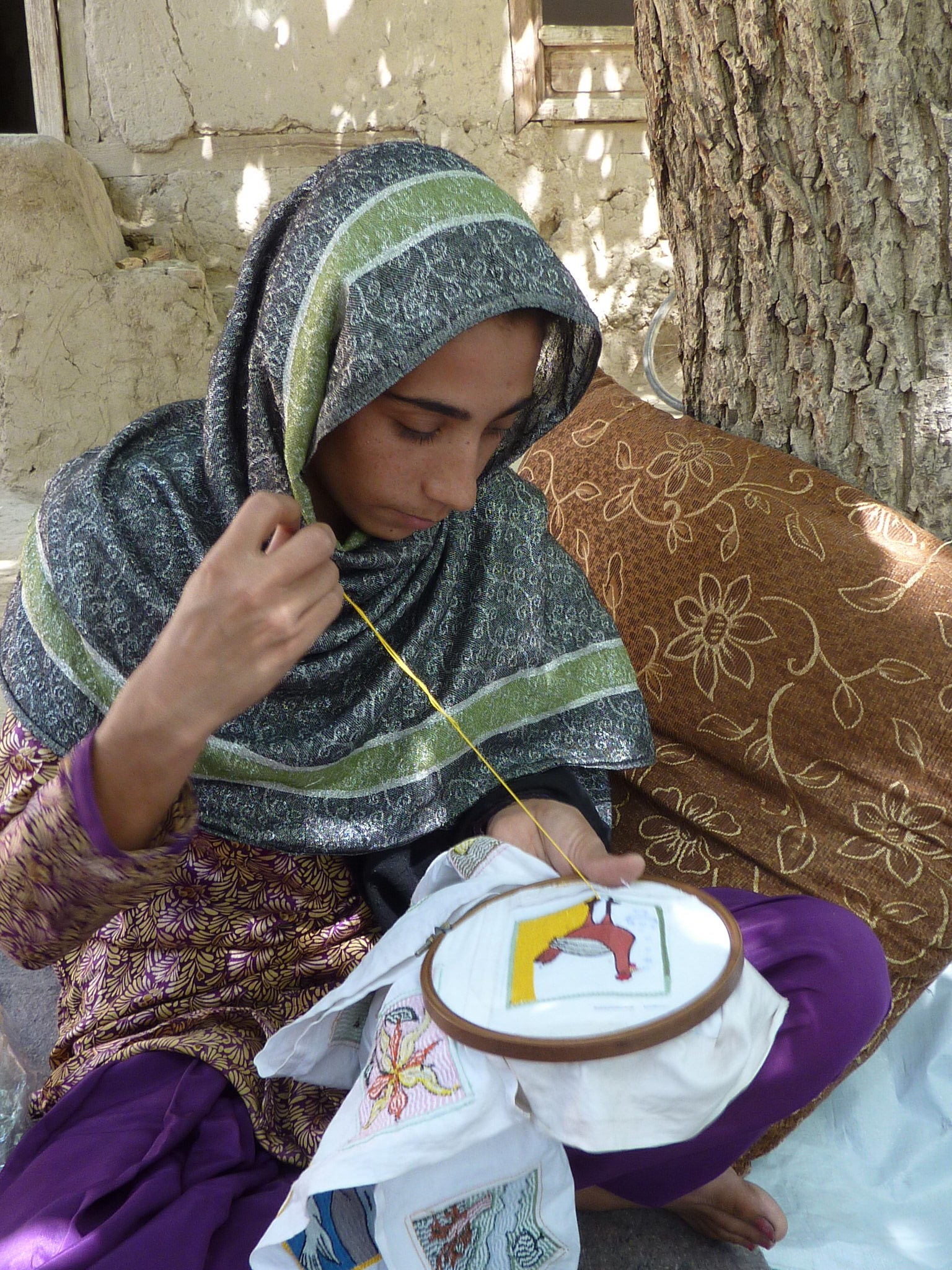 Bestickte Quadrate Afghanistan